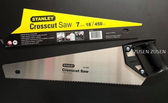 """Stanley Plastic Handle HandSaw Crosscut 18"""" (20-080)"""