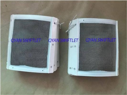 F10- STAINLESS MESH CONER WITH WHITE BINDING 6 ��