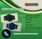 Reusable 3 Ply Cotton Mask