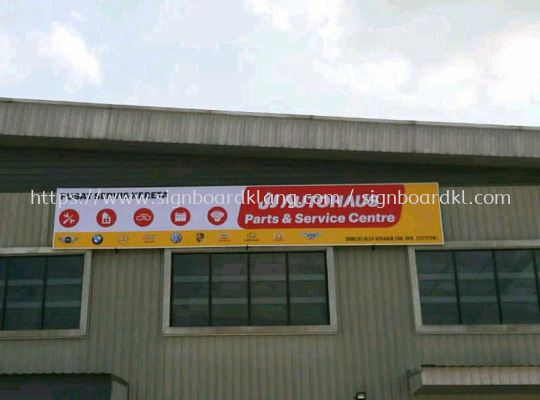 JJ Autohaus parts & servis Normal metal G.I signboard at klang