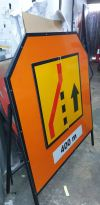 temp road sign Safety Sign & Product