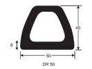 DR50 Docking Rubber 1641 4m Docking D Fender Rubber