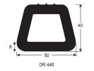 DR 440 Docking Rubber Docking D Fender Rubber