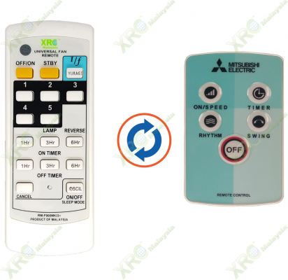 W16-RT-P MITSUBISHI FAN REMOTE CONTROL