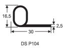 P Section Door Seal P Shape Seal