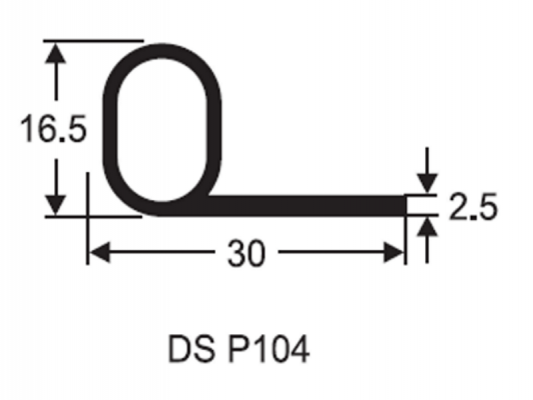 P Section Door Seal