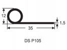 P Section Door Seal P Shape Seal