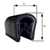 Pinchweld 14mm x 9mm U Or C Channel Seals