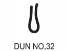No.32 Dunlop W/Strip 1468 Weather Seals