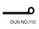 No.110 Dunlop W/Strip Weather Seals