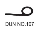 No.107 Dunlop W/Strip 1456 Weather Seals