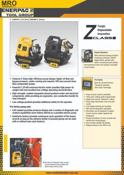 ZU4T-Series, Electric Torque Wrench Pumps
