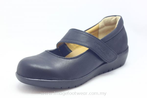 EXPRESS POLO Full Leather Ladies Shoe- LL-90471- BLACK Colour