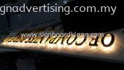 AL Tamim World 3D STAINLESS STEEL GOLD 3D LED BACKLIT SIGNAGE