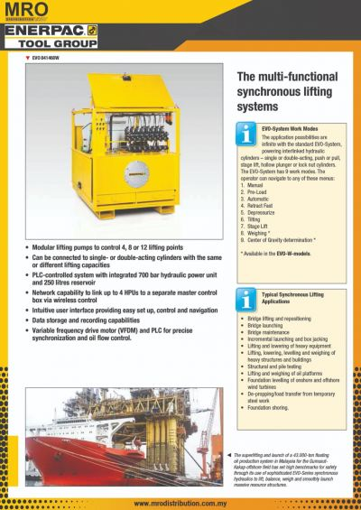EVO-Series, Standard Synchronous Lifting Systems