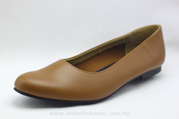 PlusSize Women Flat Shoes- PS-70231 Almond Colour