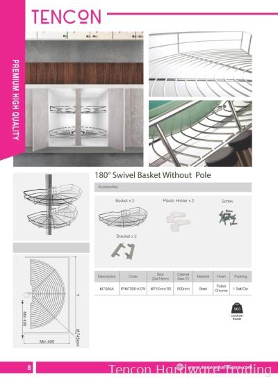 180 degree Swivel Basket Without Pole