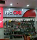 Red one 3D led channel box up lettering signage at giant kampung jawa klang