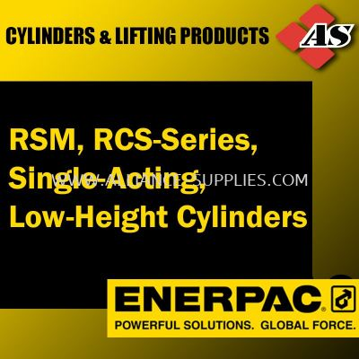 RSM, RCS-Series, Single-Acting, Low-Height Cylinders