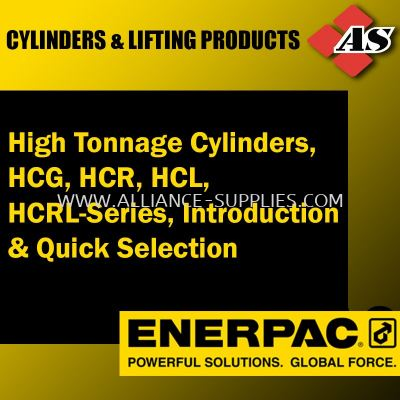 High Tonnage Cylinders, HCG, HCR, HCRL-Series