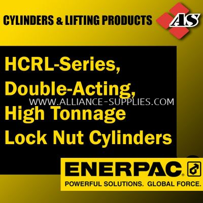 HCRL-Series, Double Acting, High Tonnage Lock Nut Cylinders
