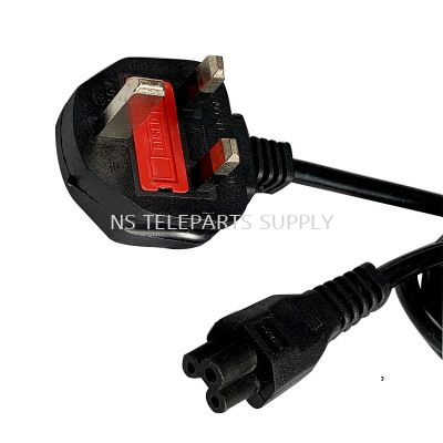 3 PIN NOTEBOOK POWER CORD UK (0.75MM) 1.8 METER