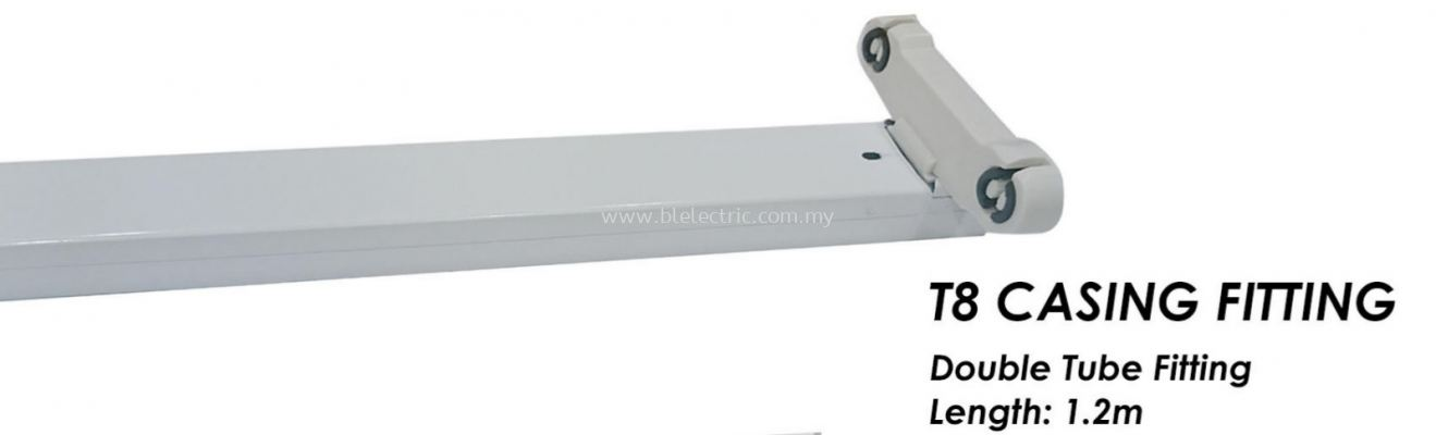 Cahaya T8 Casing Fitting - Double Tube