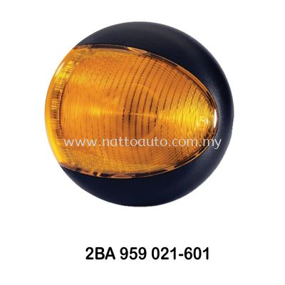 HELLA EuroLED Rear Direction Indicator Lamp Amber - Black Cover 2BA 959 822-601