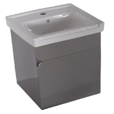 Rocconi RG 4137A111 Ceramic Basin With Stainless Steel Cabinet