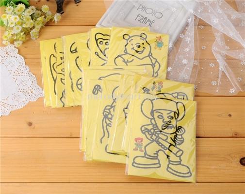 10Pcs Sand Painting for Children DIY Drawing Toys ( Random)