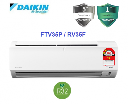 Daikin 1.5HP Non Inverter Air Conditioner R32 Standard P-Series FTV35P