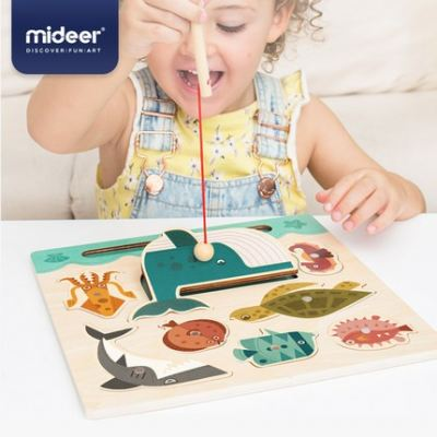 MD2050 Mideer Montessori Wooden Magnet Fishing Board