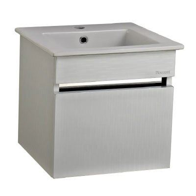 Rocconi RG 4141A102 Ceramic Basin With Stainless Steel Cabinet
