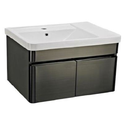 Rocconi RG 6146A216 Ceramic Basin With Stainless Steel Cabinet