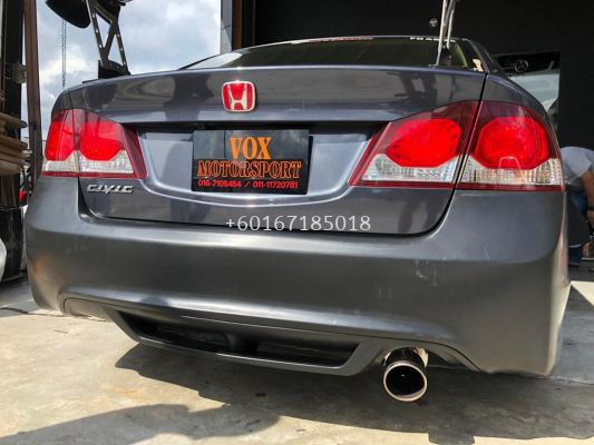 2006 2007 2008 2009 2011 honda civic fd fd1 fd2 fd4 fd2r type r rear bumper pp material 2 pc set with type r diffuser new set