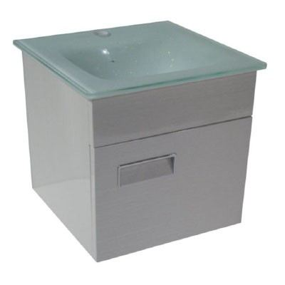 Rocconi RG-B 4141K102 Glass Basin With Stainless Steel Cabinet