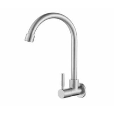 Rocconi RCN-SU 5037 Single Lever Wall Sink Tap(Stainless Steel 304)