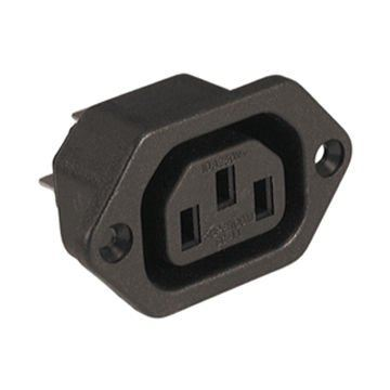 CONNECTOR AC SOCKET K2414 PANEL MOUNT 4.8MM