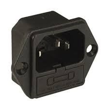 Shallin CONNECTOR AC SOCKET K2413 PANEL MOUNT 4.8MM
