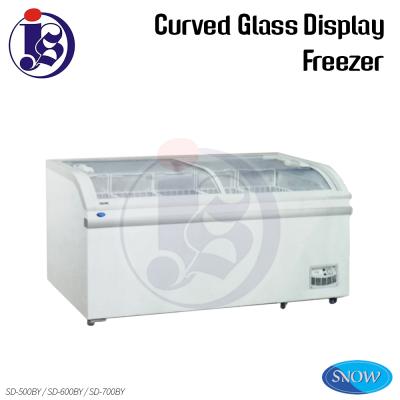 SNOW Curved Glass Display Freezer