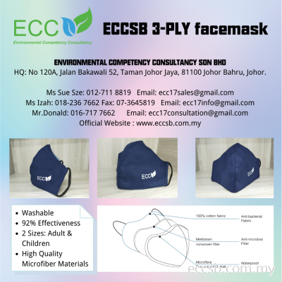 Microfibre Three-Ply Mask