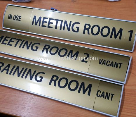 door sign with aluminium holeder plate