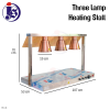 Warming Stall with 3 heating lamp Warming Stall / Heat Lamp Kitchen Equipment