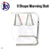 U Shape Warming Stall with 2 heating lamp  Warming Stall / Heat Lamp Kitchen Equipment