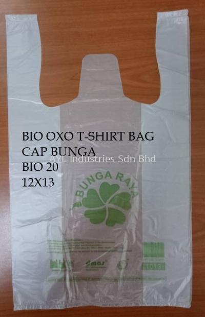 BIO OXO T-SHIRT PLASTIC BAG - CAP BUNGA BIO 20 (12X13)