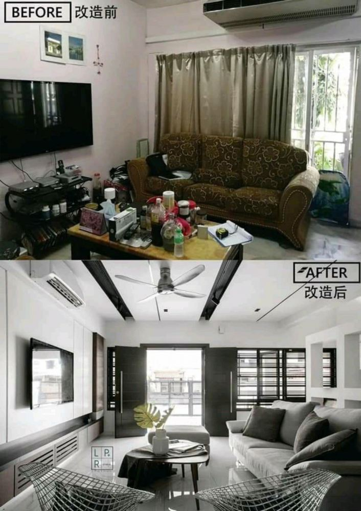 Furnish your house like this before and after