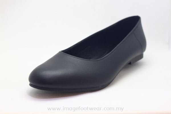 Women 1 inch Heel Shoes- TF-0231 BLACK Colour