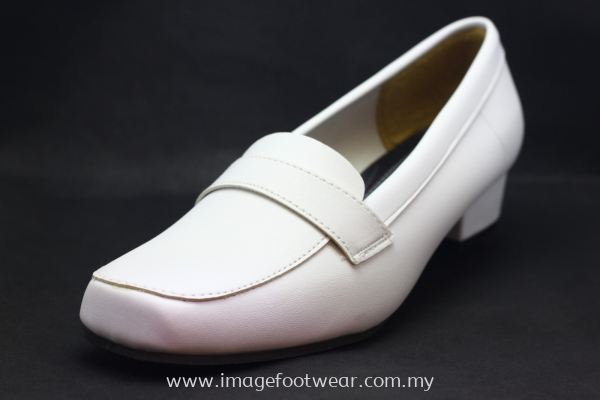 Women 1 inch Heel Shoes- TF-1838 WHITE Colour