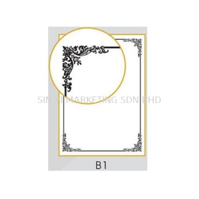 A4 Certificate Gold Stamping 100'S