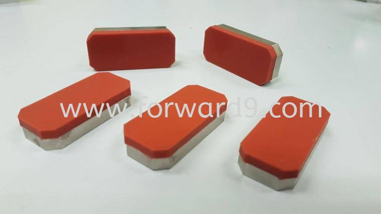 Silicone Recoating on Top Steel Plate  Silicone  Polymer ( PU / Rubber etc )